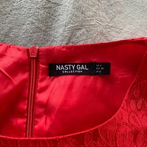 Nasty Gal Pants & Jumpsuits - Bright Red Cut-Out Jumpsuit